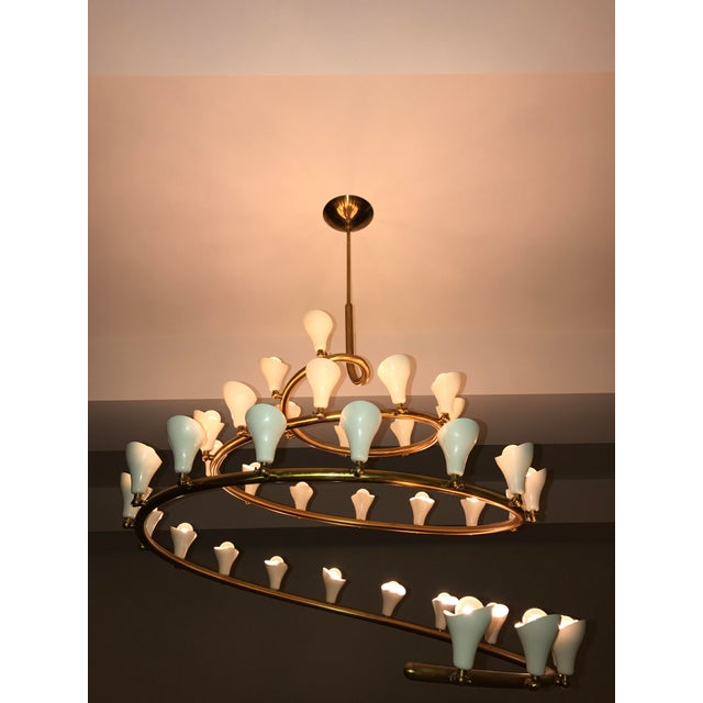Gino Sarfatti for Arteluce Large Spiral Chandelier - Image 2 of 6