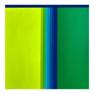 """Cristina Ghetti """"Green Gradient"""", Painting For Sale"""
