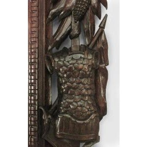 Mid 19th Century 19th c. Wall Mirror Carved with American Iconography For Sale - Image 5 of 8