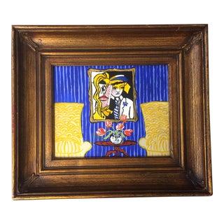 """""""Lichtenstein to Leger"""" Original Painting by Judy Henn For Sale"""
