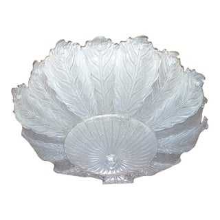 Very Large Mid Century Leaf Murano Glass Flush Mount by Barovier, Italy 1970s For Sale