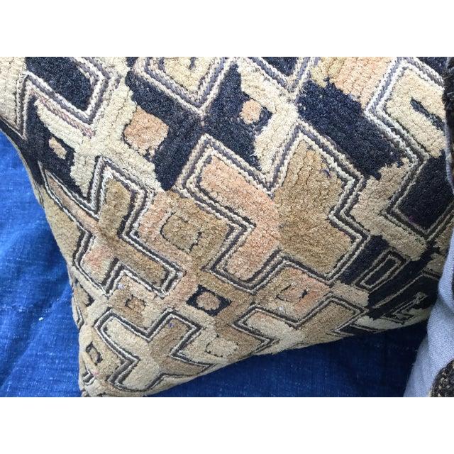 African Kuba Cloth Pillows - A Pair - Image 6 of 7