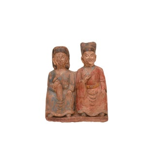 Antique Stone Wedding Couple Statue For Sale