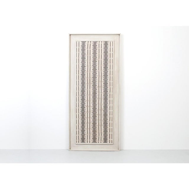 1970s Framed Modernist Textile For Sale - Image 11 of 13