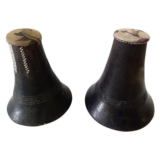 Hima Milk Jugs w/ Woven Lids, S/2 - Image 3 of 7