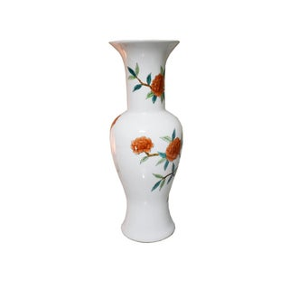 18th C. Famille Vert Yellow Blue Green Antique Asian Japanese Imari Vase With Floral and Birds Preview