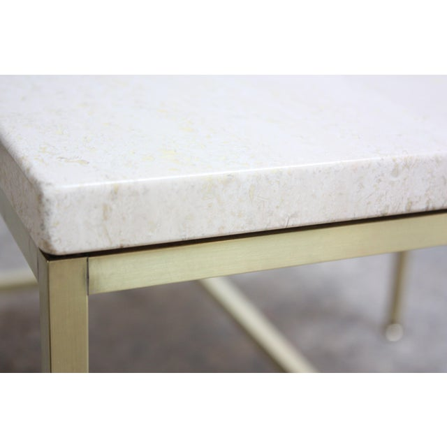 Paul McCobb Travertine and Brass Occasional Tables For Sale - Image 12 of 13