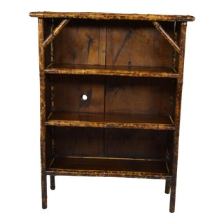 19th-Century Bamboo Bookcase For Sale