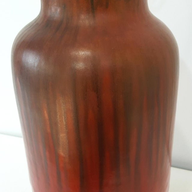 Mid-Century Alvino Bagni Red Italian Pottery Desk Lamp - Image 4 of 9