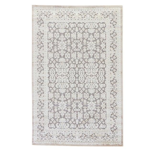 Jaipur Living Regal Damask Gray & White Runner Rug - 2′6″ × 10′ For Sale In Atlanta - Image 6 of 6
