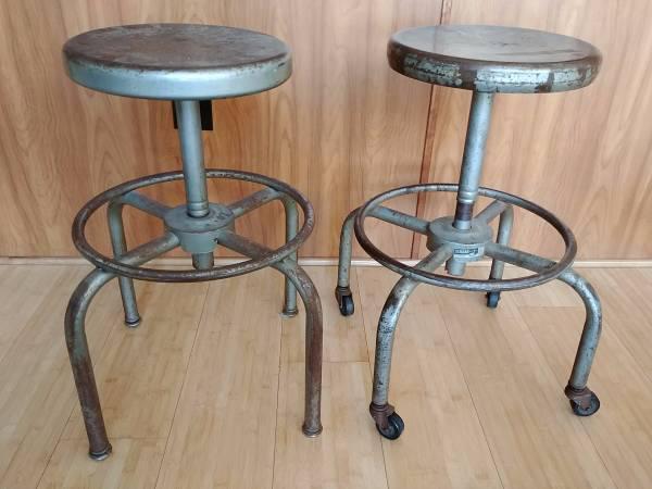 Vintage Metal Stools