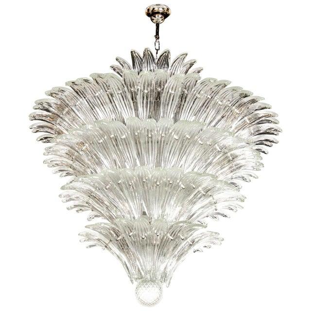 Exquisite Five-Tier Palma Murano Glass Chandelier - Image 9 of 9