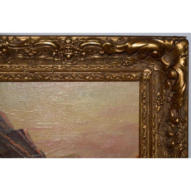 Early 20th Century Thomas C. Blake Luminous Mountain Landscape Oil Painting C.1920 For Sale - Image 5 of 8