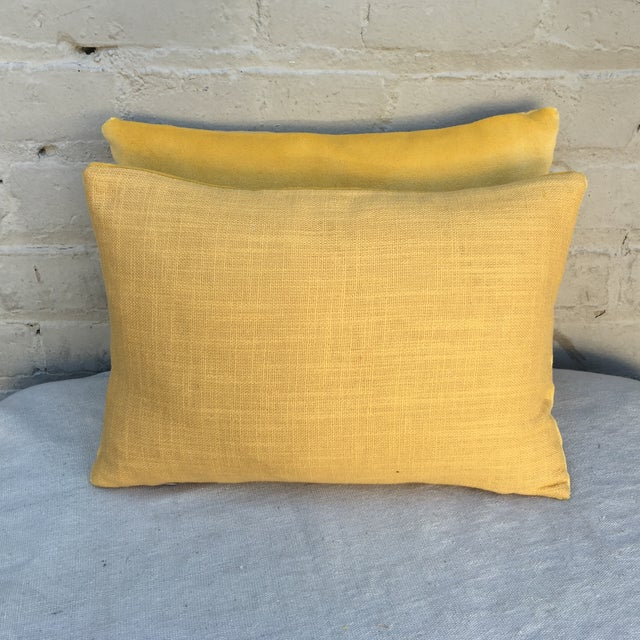 Metallic Embroidered Velvet Pillows - A Pair - Image 5 of 5