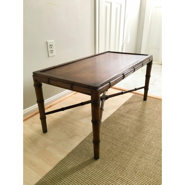 1970s Vintage Faux Bamboo Campaign Style Tray Table For Sale In Washington DC - Image 6 of 7
