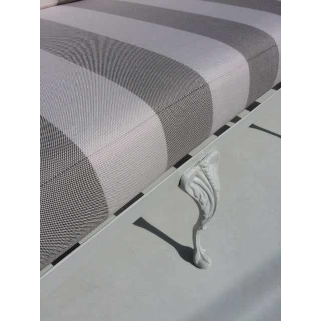 Metal Garden Sofa With Sunbrella Cushions For Sale - Image 9 of 13