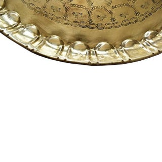 Early 20th Century Moroccan Round Hammered Brass Tea Tray Preview