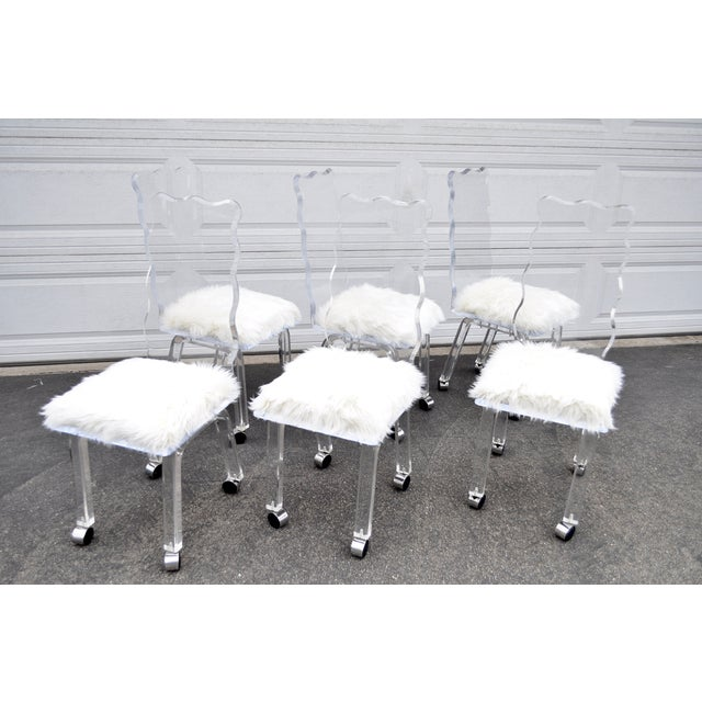 Mod Lucite Dining Chairs - Set of 6 - Image 2 of 8
