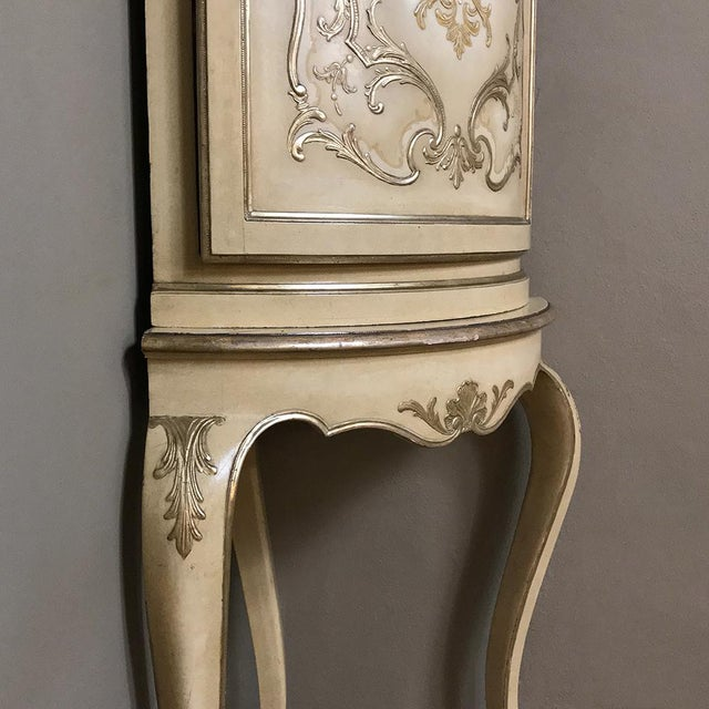 Antique Italian Baroque Painted Corner Cabinet For Sale - Image 10 of 12