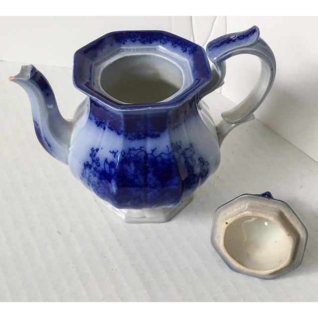 Child's Petite English Flow Blue Teapot with Lid - Image 5 of 7