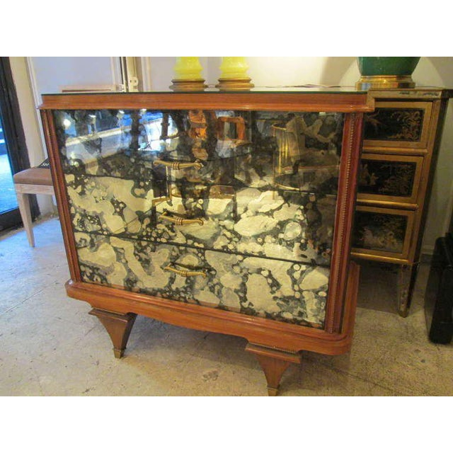 Whimsical Italian Mirrored Chest of Drawers For Sale - Image 4 of 9