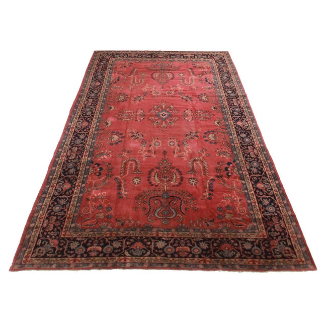 Antique Hand Knotted Wool Made In Turkey City Of Sparta, It is Called Turkish Sparta. Floral Design.
