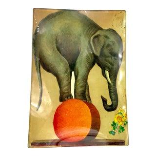 John Derian Decoupage Elephant Themed Trinket Dish For Sale