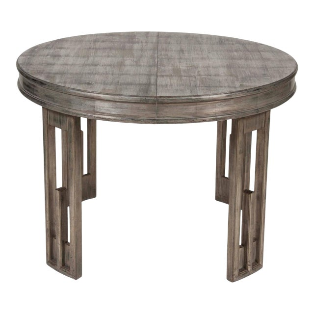 Silver Leaf Dining Table by James Mont For Sale