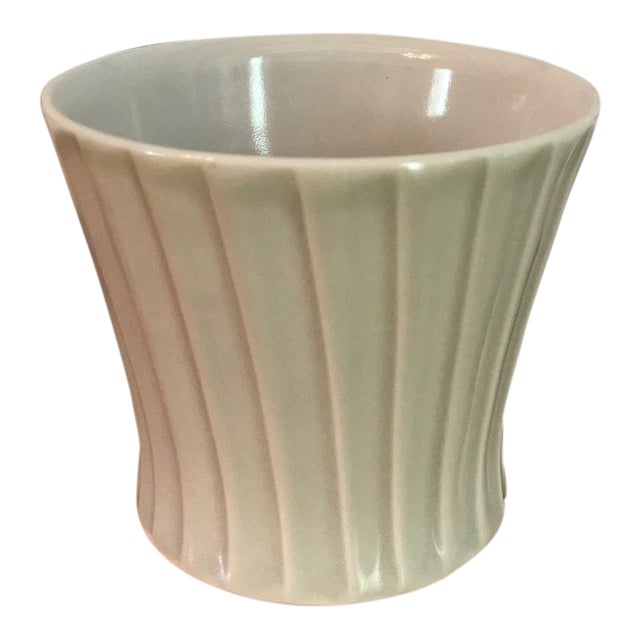 Artist-Made Fluted Stoneware Cup For Sale