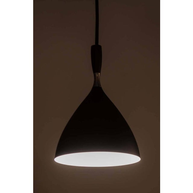 Mid-Century Modern Birger Dahl Brass & Metal Scandinavian Modern Pendant Light For Sale - Image 3 of 6