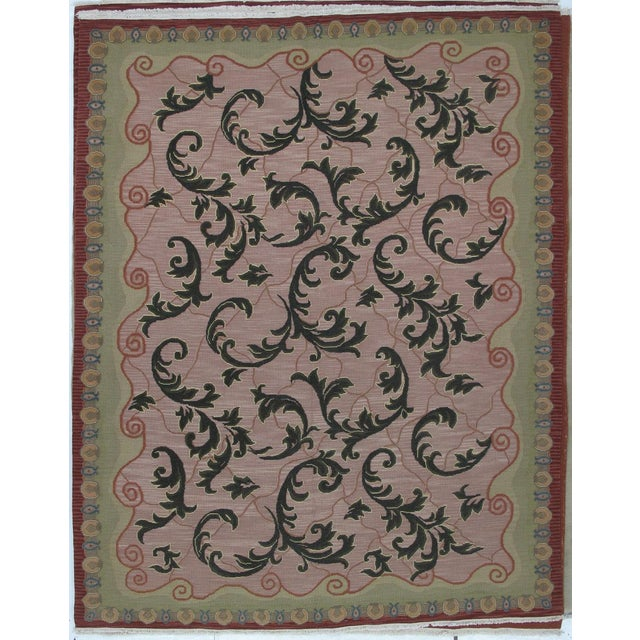 Soumak Design Hand Woven Wool Rug - 8' X 10' - Image 5 of 6