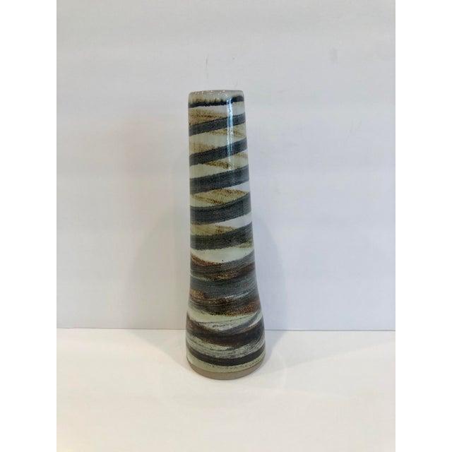 Gordon Martz Mid Century Modern Marshall Studios Gordon Martz Tall Cylindrical Vase For Sale - Image 4 of 5