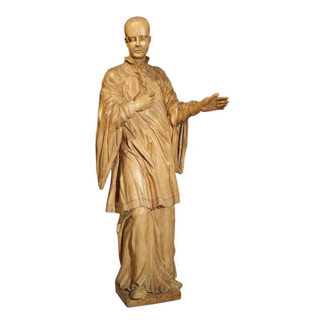 18th Century Limewood Statue Of Saint Aloysius Gonzaga Circa 1730