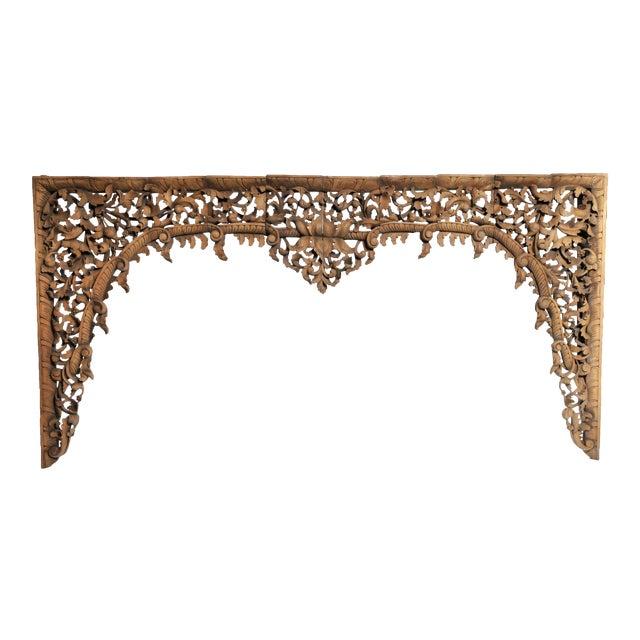 Vintage Burmese Hand-Carved Arch For Sale