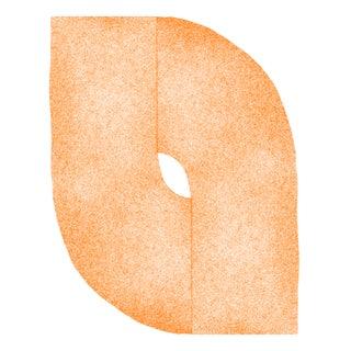 "Jessica Poundstone ""Tangerine Curves: Soft Geometry"" Print"