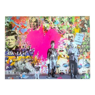 "Mr. Brainwash "" Love Is the Answer "" Authentic Lithograph Print Pop Art Poster For Sale"