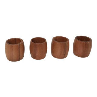 Vintage Wooden Napkin Rings - Set of 4 For Sale