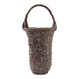 Wada Waichisai III Japanese Flower Basket For Sale