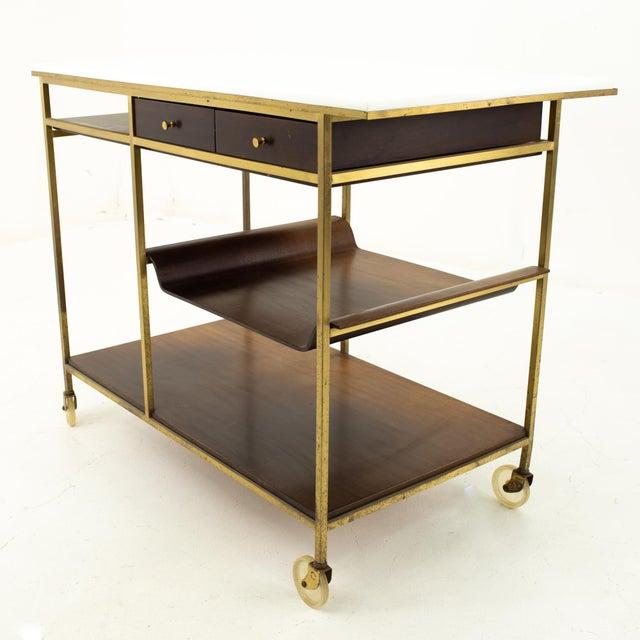 Mid-Century Modern Paul McCobb Mid Century Bar Cart For Sale - Image 3 of 10