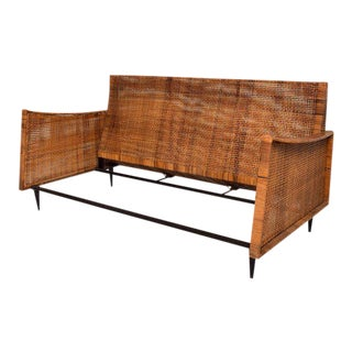 Mid-Century Modern Cane Loveseat Attributed to Arturo Pani For Sale