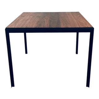 """1960s Florence Knoll Mid Century Modern """"T"""" Angle Walnut Dining Table For Sale"""