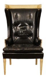 Image of Hollywood Regency Wingback Chairs