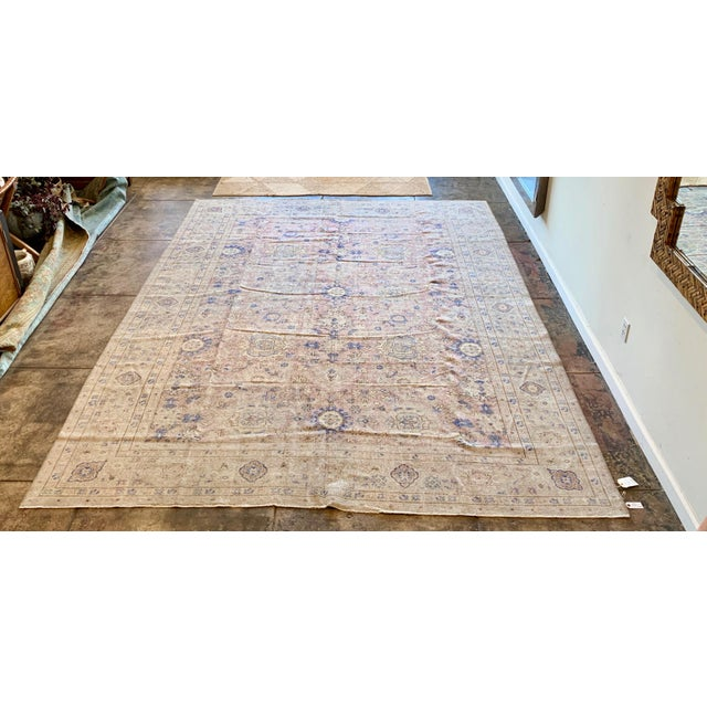 Blue Vintage Sivas Turkish Wool Rug - 8′1″ × 11′1″ For Sale - Image 8 of 8