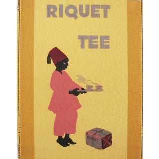 1920s Original German Art Deco Poster, Riquet Tee For Sale