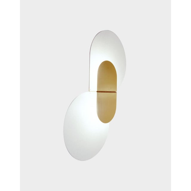 Contemporary Large Scaled Wall Sconce by Pia Guidetti for Lumi, Model 1323/Pl/2 For Sale - Image 3 of 3
