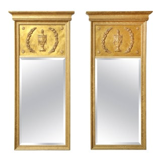 Giltwood Neoclassical Style Mirrors - A Pair For Sale