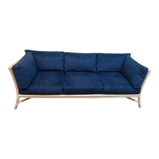 McGuire Target Back Custom Three Seater Sofa For Sale