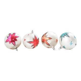Jumbo Shiny Brite Ornament Set - 4 Pieces For Sale