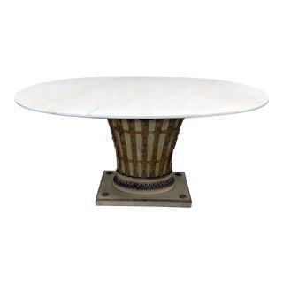 Vintage Mid Century Italian Parcel Gilt Dining Room Table For Sale