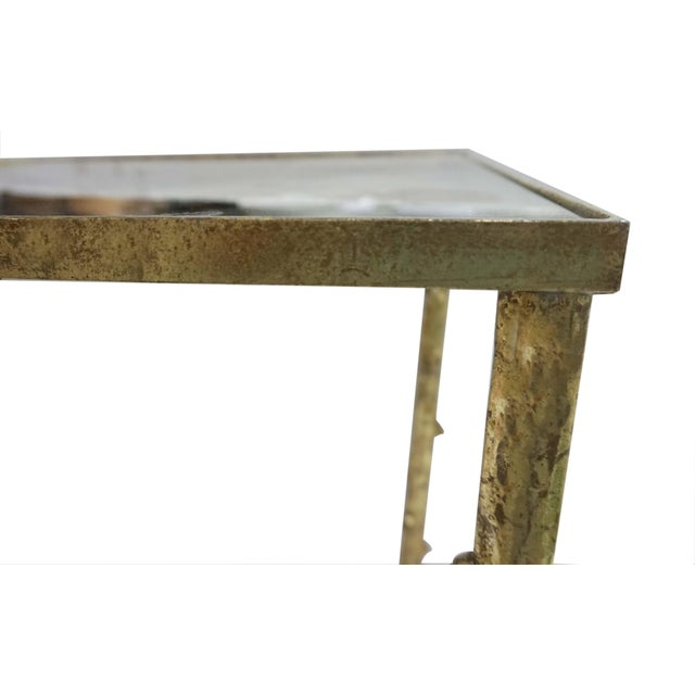 Glostrup Metal Entryway Console Table With Mirror Top - Image 3 of 7
